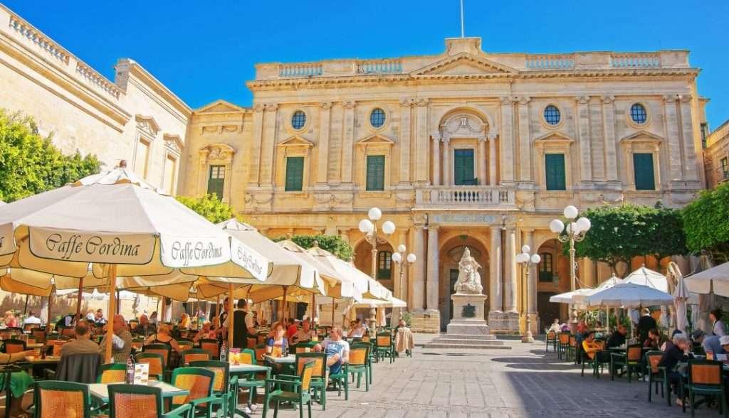 Republic Square i hjertet af Valletta på Malta